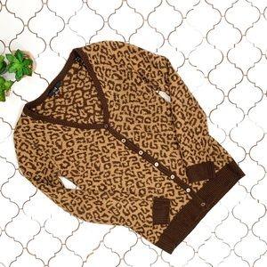 Forever 21 Leopard print Cardigan